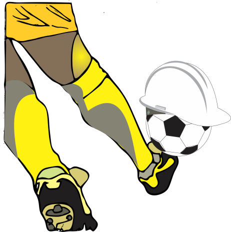 Jogador chutando bola