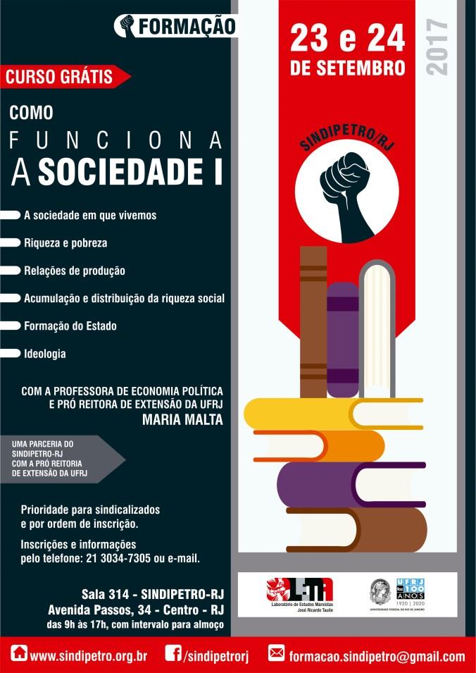 CARTAZ CURSO COMO FUNCIONA A SOCIEDADE